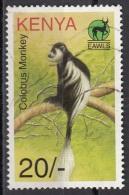694 Kenia 1996 Primati Scimmie Colobus Monkey COLOBO Viaggiato Used