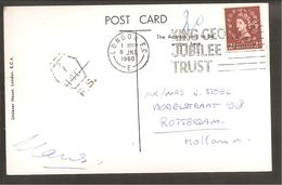 Perfin-U H- Unilever House London. Cancelled T-14c-F.S. 1960>Rotterdam - Great Britain
