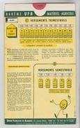 PLAQUETTE SYSTEME DE L'UNION FRANCAISE DES BANQUES FIXANT BAREME DES PRETS MENSUELS TRIMESTRIELS SEMESTRIELS - Chèques & Chèques De Voyage