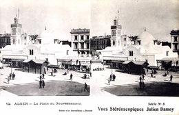 # Algérie - Alger - CP Stéréoscopique - La Place Du Gouvernement - Estereoscópicas