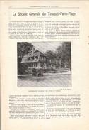 1924 - Iconographie Documentaire - Le Touquet-Paris-Plage (Pas-de-Calais) - La Société Générale - FRANCO DE PORT - Unclassified