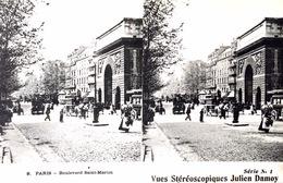 # Paris  - CP Stéréoscopique - Boulevard Saint Martin - Estereoscópicas