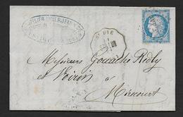 Vosges - Cachet De Convoyeur Station  St DIE  St D. LUN  - ( Au Dos Bureau De Passe 2598 ) - Marcophilie (Lettres)
