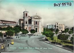 Lazio-roma-ciampino Piazza Della Pace Chiesa Del Sacro Cuore Veduta Animata Anni 50/60 - Altre Città