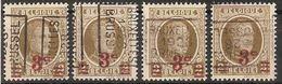 HOUYOUX Nr. 245 Voorafgestempeld Nr. 4345 A B C En D BRUXELLES 1928 BRUSSEL ** MNH ! Inzet Aan 5 € ! - Preobliterati