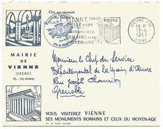 SUPERBE LETTRE DE MAIRIE DE VIENNE (ISERE) 1963 - Marcophilie (Lettres)