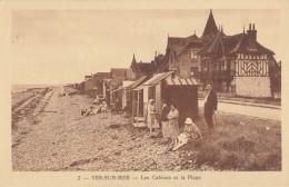 CPA - Ver Sur Mer - Les Cabines Et La Plage - France
