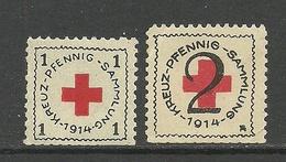 Deutschland 1914 Roter Kreuz Red Cross *