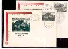 AU865   -   WIEN  12.10.62   /      FDC     OESTERREICHISCHER WALD - MICHEL NR. 1123/25 - Umweltschutz Und Klima