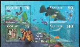 Vanuatu 1997 Year Of The Coral Reef, Mi Bloc 28 MNH(**)