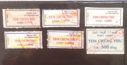Collection Of 06 Different Vietnam Viet Nam Revenue Stamps Of Quang Ngai & Hue - Vietnam