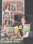 A263 1998 DU SENEGAL FAMOUS PEOPLE ACTEURS DE CINEMA 1SH+2BL MNH