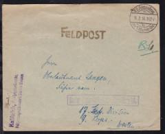 K.D. Feldpostexp. Der 1. Marine-Div. B 16.2.16 Auf Feldpostbrief Mit