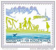 Switzerland 2015 (02) 75th Anniversary Of Swiss Sponsorship For Mountain Communities MNH **