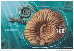 Switzerland 2015  Ammonit Ammonoidea Fossil (sheet With Multi Level Embossing) MNH **