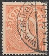 Timbre  D' Allemagne 1920   ' '  Yvert N° 13   ' '   30 P. Orange S. Chamois - Service