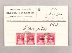 Türkei Smyrne Postkarte Mit Waagrechter 4er-Streifen 1g