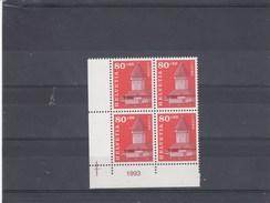 Suisse - Neuf** - Série Courante - Année 1993 - YT 1439 - Bloc De 4