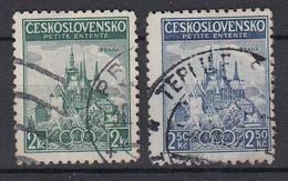 TSJECHOSLOWAKIJE - Michel - 1937 - Nr 375/76 - Gest/Obl/Us