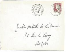 OBLITERATION DE VACQUEVILLE (MEURTHE ET MOSELLE) DU 30/11/1964 - Marcophilie (Lettres)