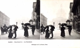 # Paris  - CP Stéréoscopique - Rue Soufflot - Le Panthéon - Estereoscópicas