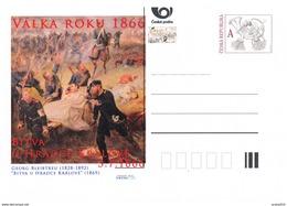 Czech Rep. / Postal Stat. (Pre2016/26) War Of 1866 (3) Battle Of Königgrätz - Painter: George Bleibtreu (1828-1892)
