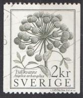 1490  Svezia 1984 Fiori Flowers ANGELICA Used Viaggiato Sverige Sweden