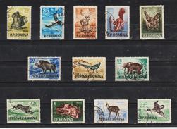 1956, GIBIERS,  YV No 1438 Et MI No1565 /1576 Et Y&T No 1438/1449