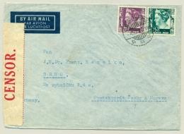 Nederlands Indië - 1939 - 20 + 25 Cent Kreisler Op Censored Airmailcover Naar Brno / Cechy A Morava