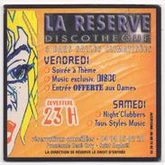 SOUS BOCK - Coaster LA RESERVE Discothèque St Raphaël - Beer Mats