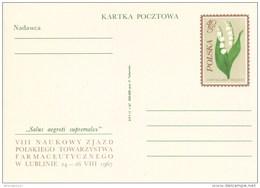 Poland Congress Of Polish Pharmaceutical Society, Medicine Pharmacy. Flower Lily Of The Valley, Convallaria Majalis 1967