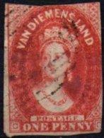 TERRE DE VAN DIEMEN - 1 P. De 1856/57 Oblitéré