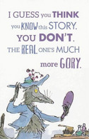 Postcard - Roald Dahl - Revolting Rhymes - I Guess You Think You Know - New - Postcards