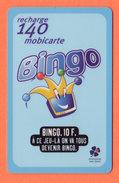 Recharge Mobicarte 140 BINGO Française Des Jeux - Francia