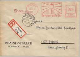 SBZ 1946 R-Brief Mit MaWSt. Firma Bergner & Weißer Ab Pössneck  [h249]
