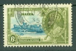 Malta: 1935   Silver Jubilee   SG212   6d       Used - Malta (...-1964)