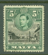 Malta: 1938/43   KGVI     SG230    5/-      Used - Malta (...-1964)