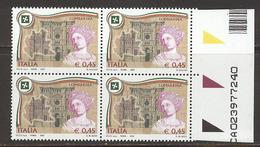 A503  FRANCOBOLLI QUARTINE REGIONI LOMBARDIA D´ITALIA 2005 CON NUMERI MATRICE MATRICOLA  DI SERIE NUOVI - 6. 1946-.. Republic