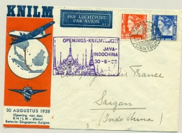 Nederlands Indië - 1938 - 1e KNILM Vlucht Van Batavia Naar Saigon / Indochina