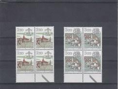 Suisse - Neuf** - Série Courante - Année 1985 - YT 1217/18 - Blocs De 4