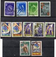RUSSIE 1957 - YT 1895/99 Et 1929/33 Obl