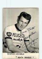 Maurice AUSSENAC, Autographe Manuscrit .  Cyclisme. 2 Scans. Peugeot Michelin BP - Ciclismo