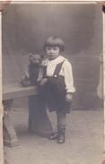 26040 Carte Photo - Bebe Baby - Enfant  - Ours Peluche Teddy Bear - Fillette -studion Monu Bruxelles  Belgique - Portraits