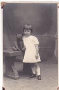 26042 Carte Photo - Bebe Baby - Enfant  - Ours Peluche Teddy Bear - Fillette -studion Monu Bruxelles  Belgique