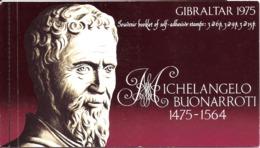 Gibraltar 1975 Michelangelo Buonrroti  Mi Bloc 2 MNH(**)