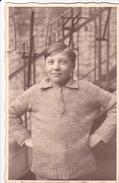 26043 Carte Photo - Ado- Enfant  -pull Tricot - Garcon Boy  Belgique