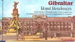 Gibraltar 1978 Royal Resicences, 25th Anniversary Queen Elizabeth Coronation Mi Bloc 3 MNH(**)