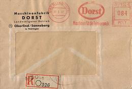 SBZ 1947 R-Brief Mit MaWSt. Firma DORST Ab Oberlind Sonneberg  [h261]