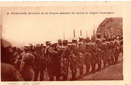 Légion étrangère, M Painlevé, Ministre De La Gerre Passant En Revue , Maroc, écrite En 1926 - Militaria
