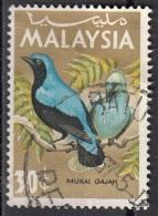 21 Malesia 2065 Uccelli Birds  Passeri Uccello Blu Used